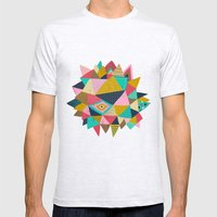 geometric Mens Fitted Tee Ash Grey SMALL