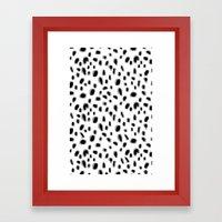 Spots Blouse Pink Belt Framed Art Print