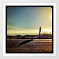 Driving to San Diego. Art Print