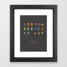 Mega MotU: Evil Warriors Framed Art Print
