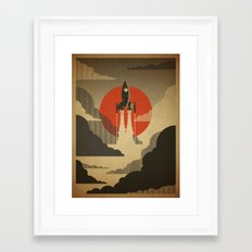 The Voyage (Grey) Framed Art Print