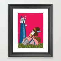 Runaway Princess Framed Art Print