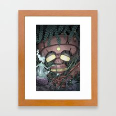 The Robot and the Fairies Framed Art Print