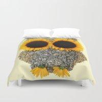 Hoot! Day Owl! Duvet Cover