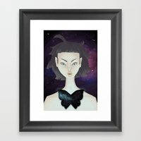 Space Moth Framed Art Print