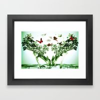 Deer-licious Framed Art Print