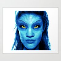 Angelina Jolie Avatar Art Print