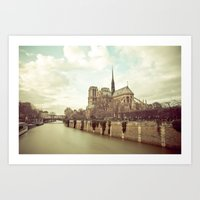 Notre Dame Cathedral On … Art Print