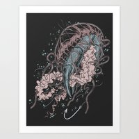 Jelly vs Crab Art Print