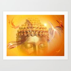 Sun Buddha Art Print