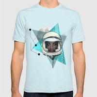 Need More Space Mens Fitted Tee Light Blue SMALL