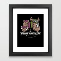 Bebop & Rocksteady Henchmen Academy  Framed Art Print
