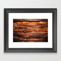 Beautifully Aged Wood Texture Framed Art Print