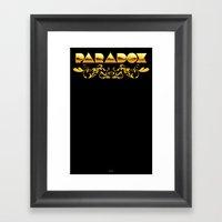 Golden Paradox Framed Art Print