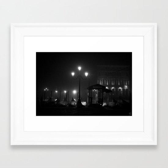 Spot of light in the darkness Framed Art Print
