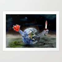 Save our World 17 Art Print