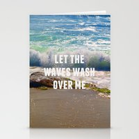 Let The Waves Wash Over Me Stationery Cards