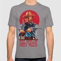 The Outlaw Josey Wales Mens Fitted Tee Tri-Grey SMALL