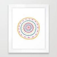 Suzani inspired floral 2 Framed Art Print