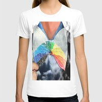 Rainbow Womens Fitted Tee White SMALL