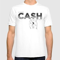 In Johnny Cash We Trust. Mens Fitted Tee White SMALL