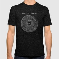 What To Focus On - Happy… Mens Fitted Tee Tri-Black SMALL