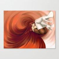 Time Antigrav - Red Canvas Print