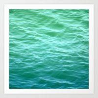Teal Sea Art Print