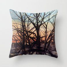 Golden Rays 1 Throw Pillow