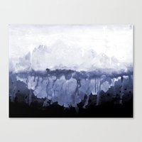 Paint 5 abstract water ocean arctic iceberg nature ocean sea abstract art drip waterfall minimal  Canvas Print