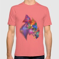 Riot Of Colour Mens Fitted Tee Pomegranate SMALL