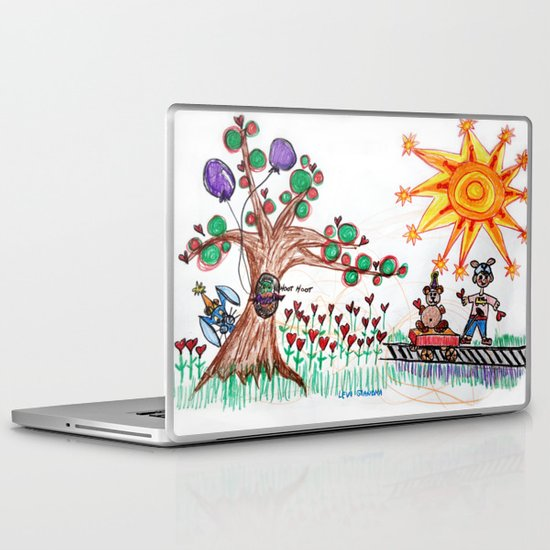 :: Hearts for Blue Bunny :: Laptop & iPad Skin