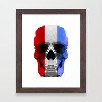 Polygon Heroes - The Patriot Skull Framed Art Print
