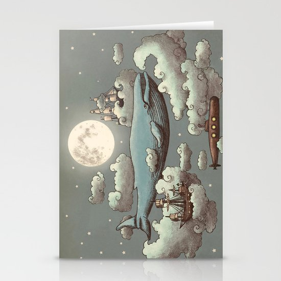 Ocean Meets Sky Stationery Card