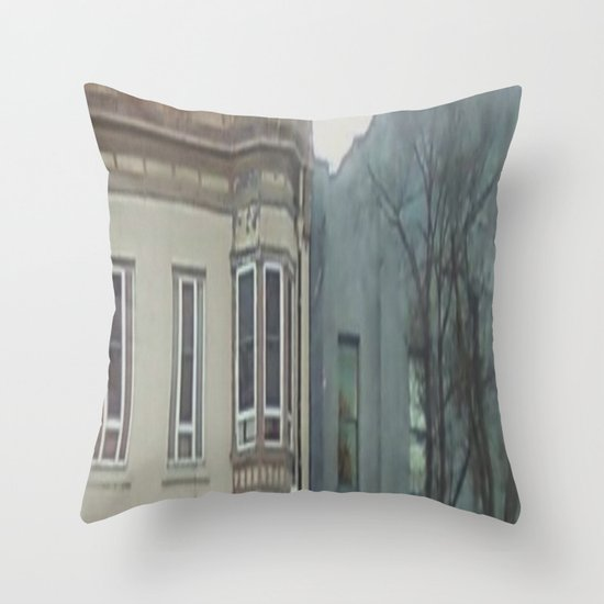 Kitchen Window Uptown Coffee Festival 2016: Window View Throw Pillow By Stefani187