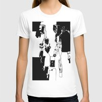 conflicted collection Womens Fitted Tee White SMALL