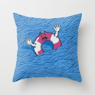 Throw Pillow featuring S.O.S. (version 2.0) by Peter Kramar