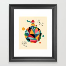 Lonely planet Framed Art Print