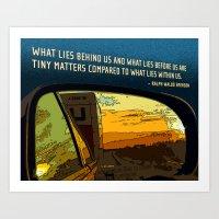 Rearview Mirror Art Print