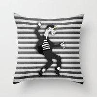 Jailhouse Unicorn Throw Pillow