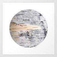Planetary Bodies - Birch Art Print