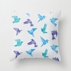 ORIGAMI BIRDS Throw Pillow