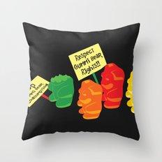 Stop Gummibear Cruelty! Throw Pillow