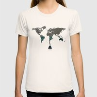 greed Womens Fitted Tee Natural SMALL