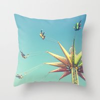 Flying Chairs At The Car… Throw Pillow