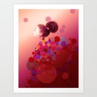 Pink○●◎ Art Print