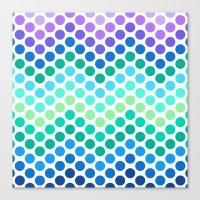 Dot Chevron: Blue Purple Canvas Print