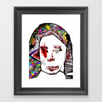 The Female Face  Framed Art Print