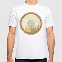 Moon & Mountains Mens Fitted Tee Ash Grey SMALL