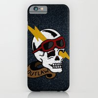 iPhone & iPod Case featuring Outlaw Traditional Tattoo Design by Adam Metzner
